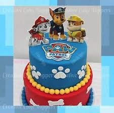 PAW PATROL LOGO BADGES MARSHALL CHASE RUBBLE CUP CAKE TOPPERS