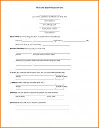 resume templates for highschool students blank resume template resumes free pdf templates for highschool