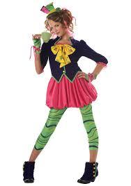 tween miss hatter girls costume mad hatter wonderland child costumes