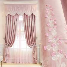 aliexpress com buy princess pink embroidery curtains jacquad