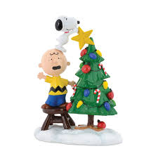snoopy tree peanuts tree topper figure snoopy brown joe collector