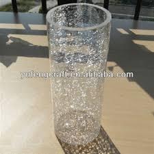 Glass Vase Cylinder Vases Design Ideas Awesome Crackle Glass Vases Crackle Glass