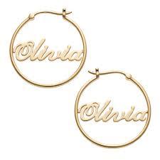 hoop earrings with name gold sterling silver name hoop earrings 44146 limoges jewelry