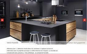 gamme cuisine cuisine blanc laque plan travail bois 12 cuisine design haut de