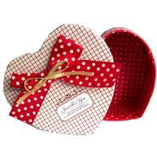 heart gifts box velvet heart