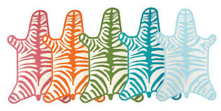 Lilly Pulitzer Rug Nursery Notations High Vs Low Colorful Zebra Rug