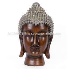 large antique buddha head statue indian tibetan buddhism sculpture