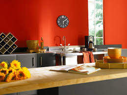kitchen exquisite small decoration using plate ideas red paint