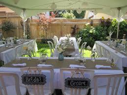 Wedding Reception Ideas Mesmerizing Small Backyard Wedding Reception Ideas Photo