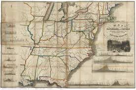 Railroad Map Of Usa by Old Railroad Usa Map Prints