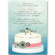 cheap bridal shower invitations lovebird wedding cake bridal shower invitations ewbs046