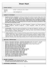 Enterprise Management Trainee Program Resume Resume Shawn Nash 21092015