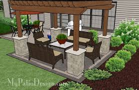 Patio Plans And Designs by Pergola Covered Brick Patio Tinkerturf