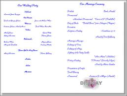blank wedding programs wedding invitation template entourage luxury wedding program
