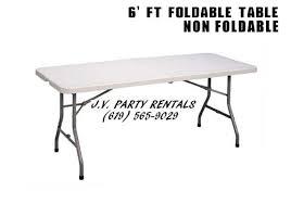 6 foot foldable table 6 ft foldable table non foldable jv party rentals
