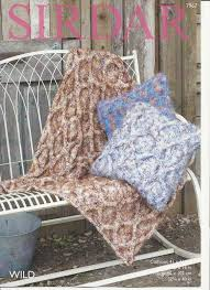Knitted Cushion Cover Patterns Sirdar Cushion Covers And Throw Knitting Pattern In Wild Chunky 7967