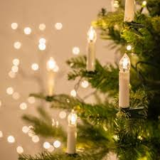 string lights with picture clips 50 warm white led flameless christmas candle indoor string lights