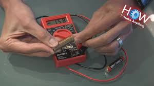 how to use a multimeter as battery tester youtube