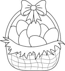blank easter baskets free clip of easter clipart black and white 3888 best blank