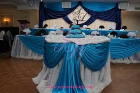 turquoise and blue wedding reception decoration turquoise