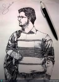 pen sketch of myself touchtalent for everything creative