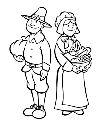 thanksgiving pilgrams thanksgiving coloring pages pilgrims holidays coloring pages of