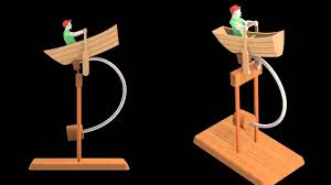 balancing fisherman wooden