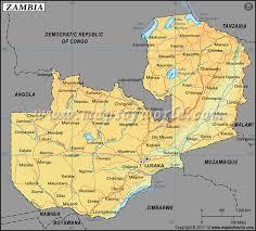 map of zambia latitude and longitude map