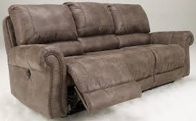 Reclining Couches Oberson Gunsmoke Reclining Sofa From Ashley 7410088 Coleman