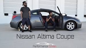 nissan altima coupe horsepower nissan altima coupe review youtube