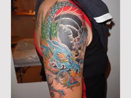 half sleeve blue colourful ink d sleeve
