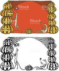 halloween border vector halloween pumpkin rats and spider border stock vector art