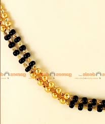 ckmn gold plated jewellery traditional mangalstra thread black