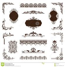 vintage set of ornaments and stickers stock vector image 69828266