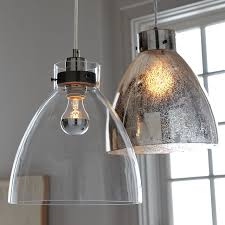 Modern Pendant Lighting For Kitchen Industrial Pendant Glass West Elm