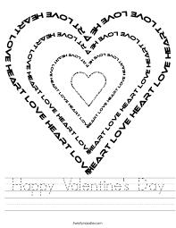 happy valentine u0027s day worksheet twisty noodle