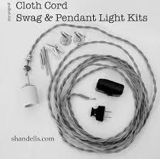 Swag Pendant Lighting The Original Cloth Cord Pendant Light Kit From Shandells Com