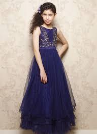 doll blue net layered kids gown k i d s e t h n i c w e a r