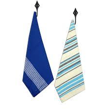 urban trendz woven stripes kitchen towels tea towels set of 2