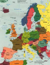 updated map of europe europe european continent political map a learning family