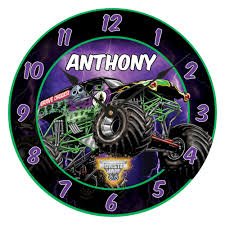 large grave digger monster truck toy sale monster jam grave digger wall clock monster truck room