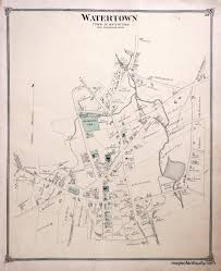Suffolk County Massachusetts Maps And Watertown Village Connecticut Antique Maps And Charts U2013 Original