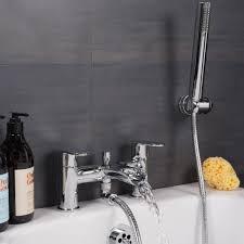 clean waterfall bath shower mixer tap