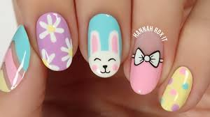 5 cute spring easter nail art ideas youtube
