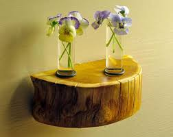 Test Tube Vase Holder Test Tube Vase Rustic Wood Flower Holder Natural Smoothed