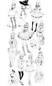 Pour mode vetements style mangas gratuit a imprimer  Coloriage