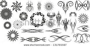 pagan tribal ornaments stock vector 131765597
