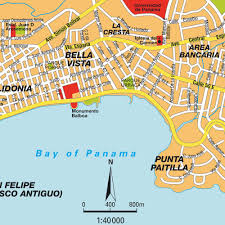 map of panama city map panama city panama maps and directions at map