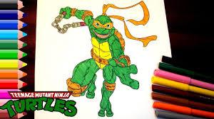teenage mutant ninja turtles coloring pages kids teenage