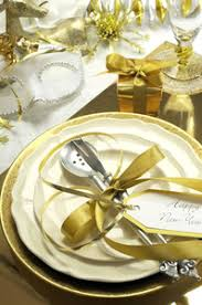 Happy New Year Decorations Happy New Years Eve Elegant Dinner Table Setting With Black And